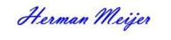 Handtekening Herman Meijer -blauw